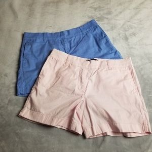 J. Crew Chino shorts lot of 2 size 6